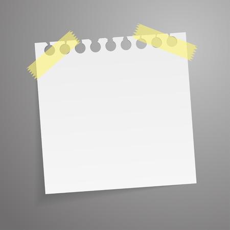 notepaper: Motivation concept on torn notepaper. Vector illustration.