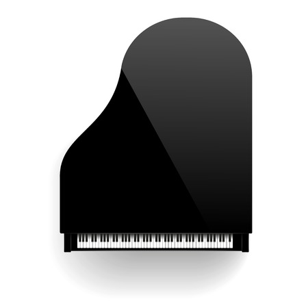 ebony: Grand Piano Isolated