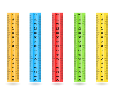 rulers: Colorful rulers