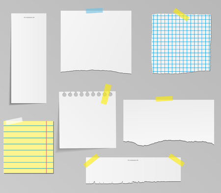 sheet of paper: Vector set of paper objects for your design