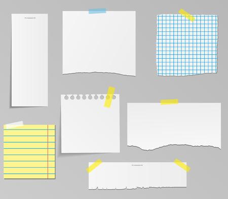 Wektor zestaw papieru do projektowania obiektów
