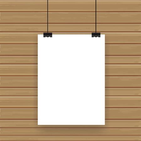 expositor: Cartel en la pared, ilustración vectorial plantilla de diseño moderno