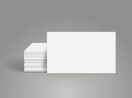 business cards: Business cards blank mockup - template Illustration