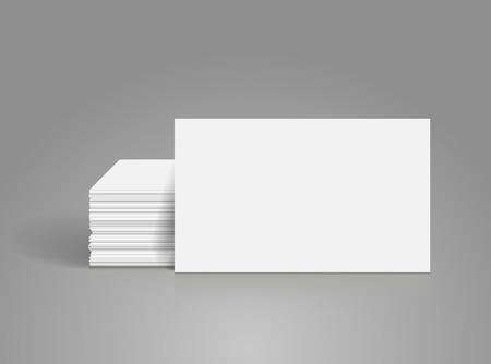 Tarjetas de visita maqueta en blanco - plantilla