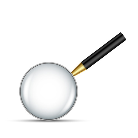 low scale magnification: Realistic vector magnifying glass Illustration