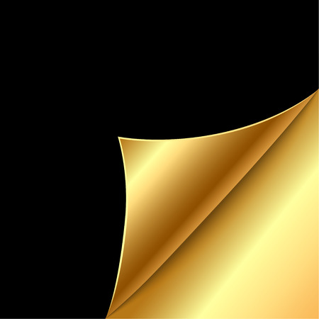 gold corner: paper corners. Vector illustration Illustration