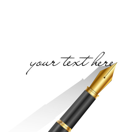 rollerball: Black pen isolated on the white background. Vector illustration Illustration