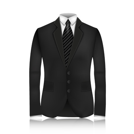tailored: Male clothing suit. Vector Illustration, contains transparencies.