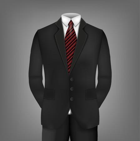 transparencies: Male clothing suit. Vector Illustration, contains transparencies.