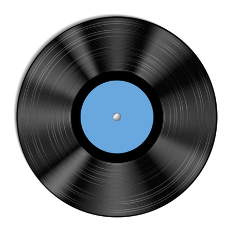 tracklist: Vector illustration of a vinyl record. Illustration