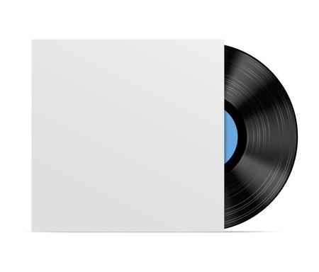Abstracte muziek achtergrond. Vinyl schijf Stock Illustratie