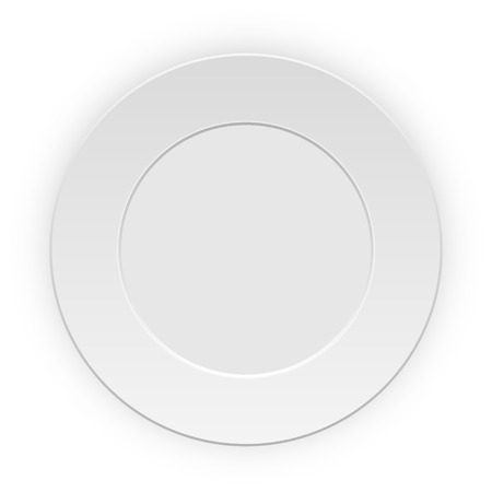 plate: Plate on white background