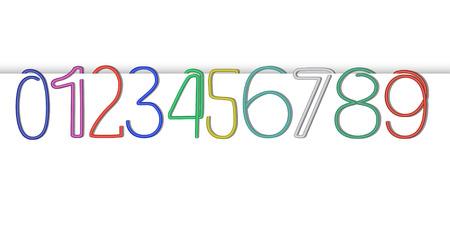 numeric: Vector Numeric Paper Clip Set
