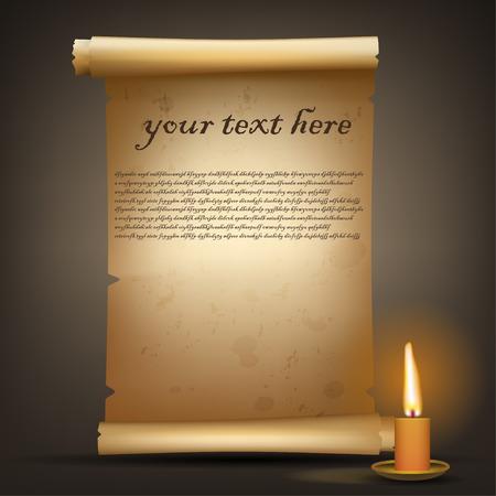 hebrew bible: Old vintage scroll Illustration