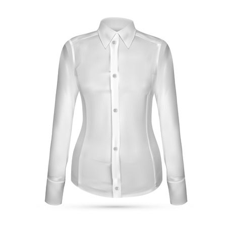 button up shirt: Vector illustration of dress shirt (button-down). Front view