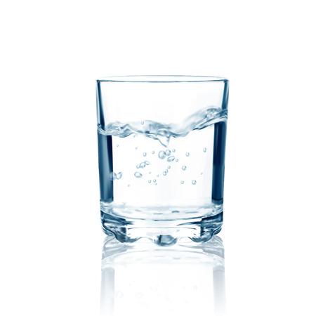 Glas met water geïsoleerd. Vector illustratie Stockfoto - 37492648