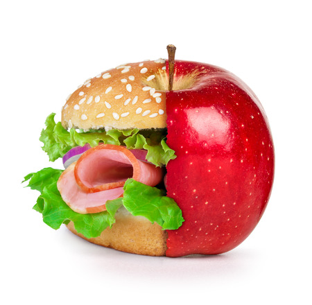 pounder: concept of dieting, healthy eating choices and fast food