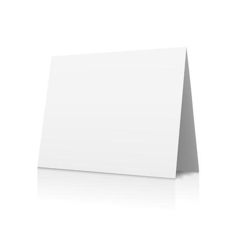 din: Blank sheet of white paper
