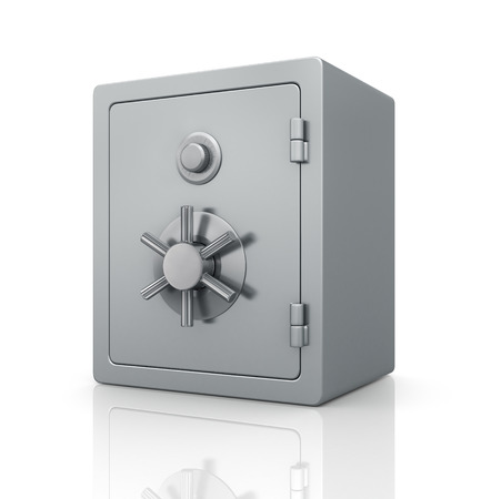 stainless steal: Realistic steel bank safe.
