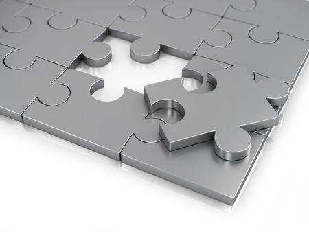 missing piece: Pedazo que falta del rompecabezas. Foto de archivo