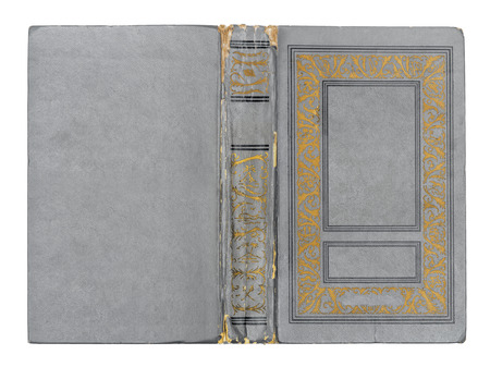 deployed: old grungy deployed gray book cover isolated white background