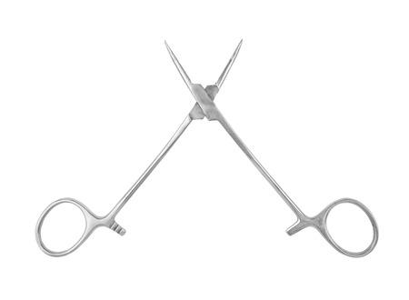 climatology: dental scissors isolated on a white background Stock Photo