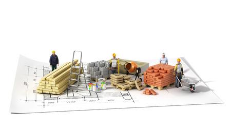 建材のインボルティーニ白背景に。 写真素材