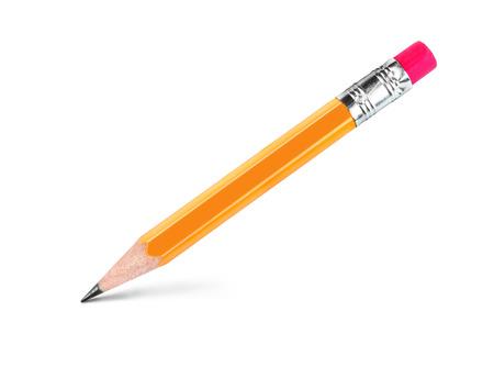 secretarial: yellow pencil isolated on white Stock Photo