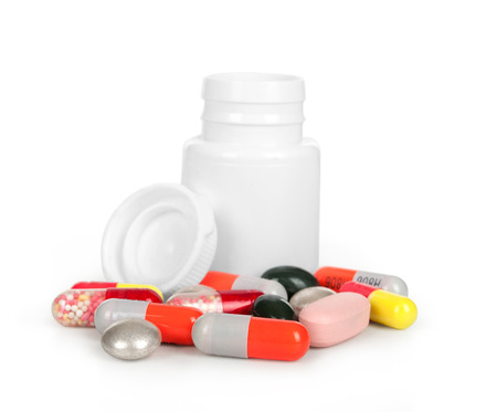 reliever: medical bottle and medical pills