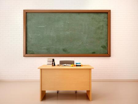 salle de classe: 3d illustration du brillant salle de classe vide pour les cours et la formation Banque d'images