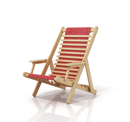 Sun lounger with isolated on white background.