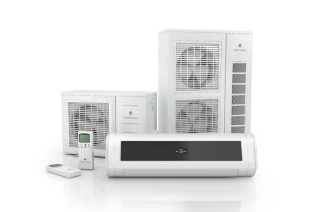 Airconditioner systeem geïsoleerd op wit.