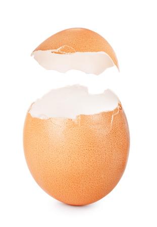eggshell: Eggshell isolated on white background