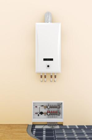 underfloor heating control system in home Stockfoto