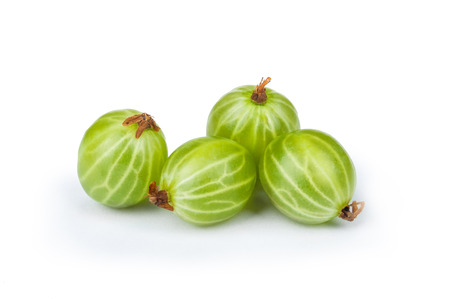 fresh gooseberry isolated on white background
