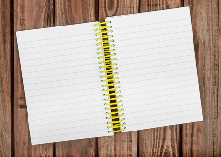 barnwood: Blank notepad on a wooden surface. Stock Photo