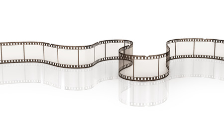 Film strip on the white background. Stock Photo
