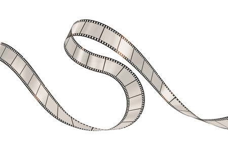 3d film: Film strip on the white background. Stock Photo