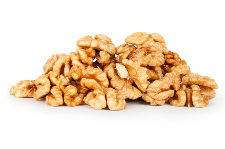 heap of Walnut isolated 写真素材