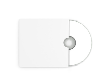 jewel box: Blank white compact disk in the envelope
