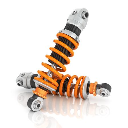 spiralling: Two car shock absorbers