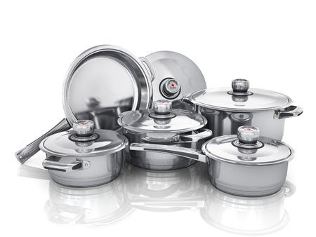 Set of cooking pots.