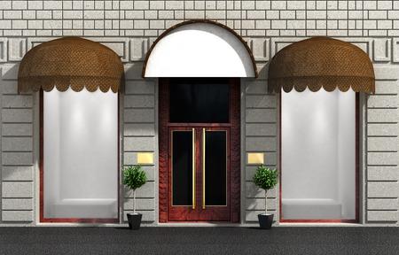 awnings windows: Store front door