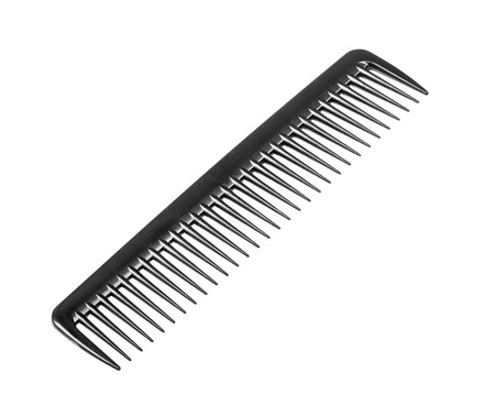clippers comb: Black comb isolated on white background