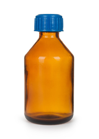 linctus: Small bottle with drug isolated over white background