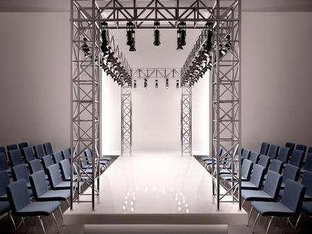 3D illustratie van de mode catwalk Stockfoto