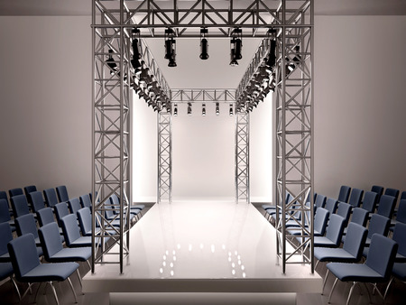 3d illustration of fashion catwalk Imagens