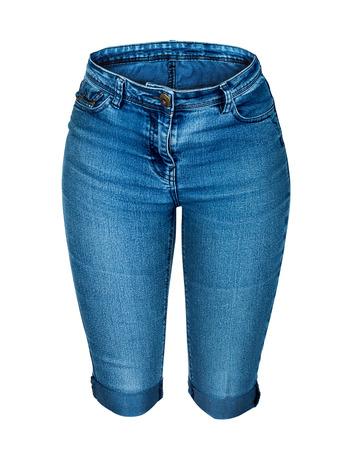 denim shorts: denim shorts isolated on white background