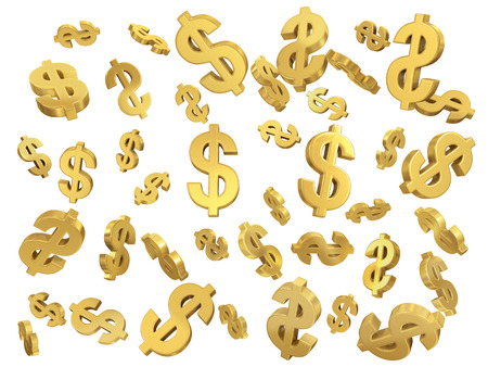 dollar sign: Golden dollar sign