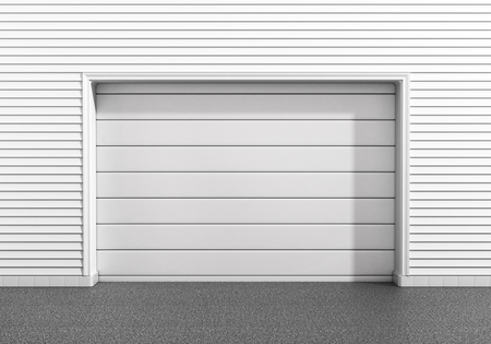 Garage door at a modern building. Imagens